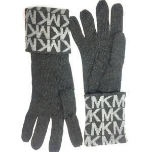 Michael Kors Large Cuff Gray Winter Gloves